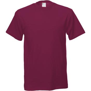 Textiel Heren T-shirts korte mouwen Universal Textiles Casual Ossenbloed