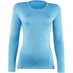 Textiel Dames T-shirts met lange mouwen Rhino RH003 Lichtblauw