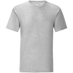 Textiel Heren T-shirts korte mouwen Fruit Of The Loom 61430 Heather Grijs