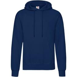 Textiel Heren Sweaters / Sweatshirts Fruit Of The Loom Hooded Marine