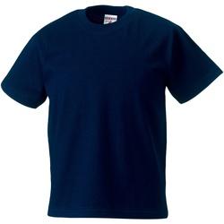 Textiel Kinderen T-shirts korte mouwen Jerzees Schoolgear Classics Franse marine