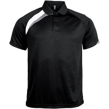 Textiel Heren Polo's korte mouwen Kariban Proact Proact Zwart / Wit / Stormgrijs