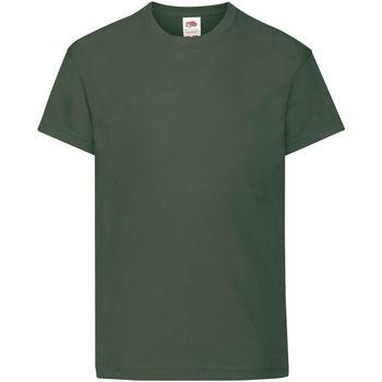 Textiel Kinderen T-shirts korte mouwen Fruit Of The Loom Original Bottle Groen
