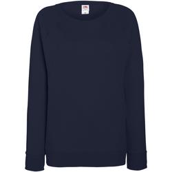 Textiel Dames Sweaters / Sweatshirts Fruit Of The Loom Raglan Donker Marine