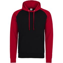 Textiel Heren Sweaters / Sweatshirts Awdis Hooded Straalzwart / vuurrood