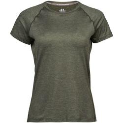 Textiel Dames T-shirts korte mouwen Tee Jays Cool Dry Olijfmelange