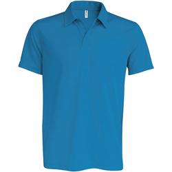 Textiel Heren Polo's korte mouwen Kariban Proact Performance Aqua Blauw