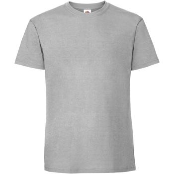 Textiel Heren T-shirts korte mouwen Fruit Of The Loom Premium Zinc