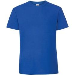 Textiel Heren T-shirts korte mouwen Fruit Of The Loom Premium Royaal Blauw