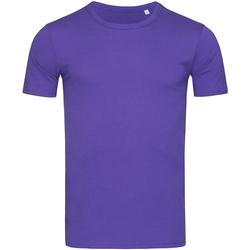 Textiel Heren T-shirts korte mouwen Stedman Stars Morgan Paars