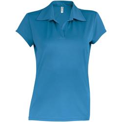 Textiel Dames Polo's korte mouwen Kariban Proact Performance Aqua Blauw