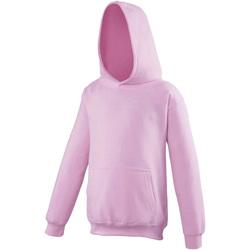 Textiel Kinderen Sweaters / Sweatshirts Awdis Hooded Baby Roze