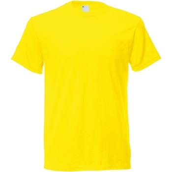 Textiel Heren T-shirts korte mouwen Universal Textiles Casual Helder geel