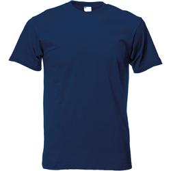 Textiel Heren T-shirts korte mouwen Universal Textiles Casual Marineblauw