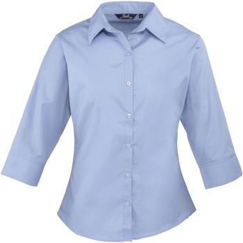 Textiel Dames Overhemden Premier Poplin Middenblauw