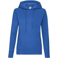 Textiel Dames Sweaters / Sweatshirts Fruit Of The Loom Hooded Royaal Blauw