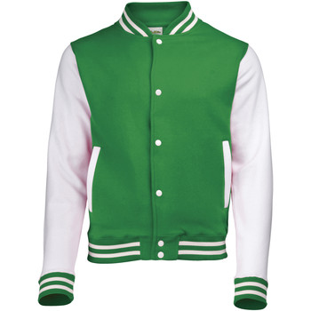 Textiel Kinderen Wind jackets Awdis Varsity Kelly Groen/Wit