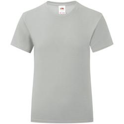Textiel Meisjes T-shirts korte mouwen Fruit Of The Loom Iconic Zinc Grijs