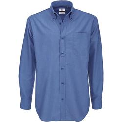 Textiel Heren Overhemden lange mouwen B And C SMO01 Blauw Chip