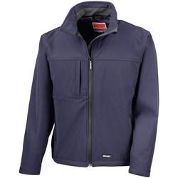 Textiel Heren Windjacken Result Softshell Marineblauw