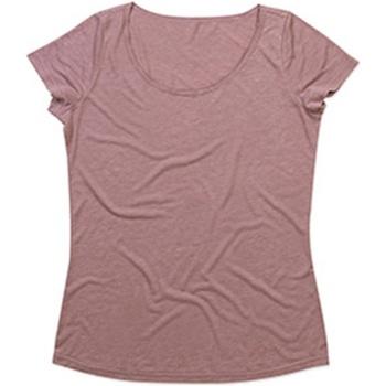 Textiel Dames T-shirts korte mouwen Stedman Stars Melange Vintage Roos