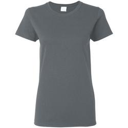 Textiel Dames T-shirts korte mouwen Gildan Missy Fit Donker Heather