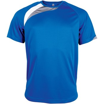 Textiel Heren T-shirts korte mouwen Kariban Proact Proact Koningsblauw/wit/stormgrijs