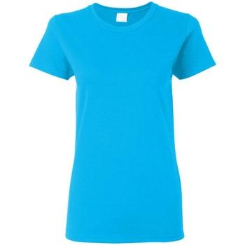 Textiel Dames T-shirts korte mouwen Gildan Missy Fit Heather Sapphire