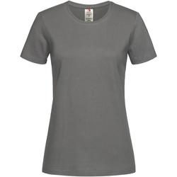 Textiel Dames T-shirts korte mouwen Stedman Organic Echt Grijs