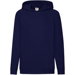Textiel Kinderen Sweaters / Sweatshirts Fruit Of The Loom Hooded Donker Navy
