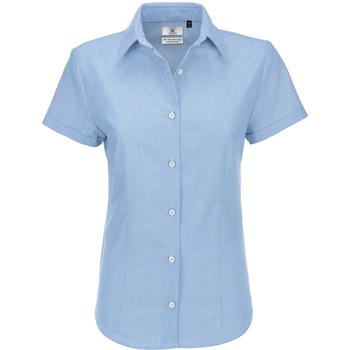 Textiel Dames Overhemden B And C Oxford Blauw Chip