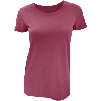 Textiel Dames T-shirts korte mouwen Bella + Canvas Triblend Maroon Triblend