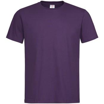 Textiel Heren T-shirts korte mouwen Stedman Classics Paars