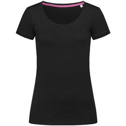 Textiel Dames T-shirts korte mouwen Stedman Stars Megan Zwart Opaal