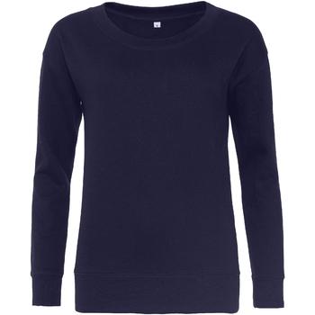Textiel Dames Sweaters / Sweatshirts Awdis Girlie Marine Oxford