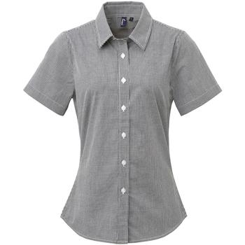 Textiel Dames Overhemden Premier Check Zwart/Wit