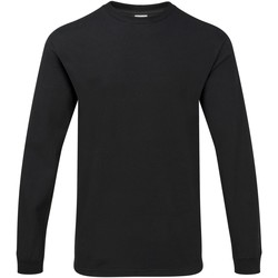 Textiel Heren T-shirts met lange mouwen Gildan Hammer Zwart