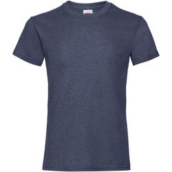 Textiel Meisjes T-shirts korte mouwen Fruit Of The Loom Valueweight Vintage Heather Marine