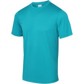 Textiel Heren T-shirts korte mouwen Awdis Performance Turkooisblauw