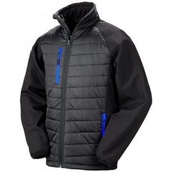Textiel Heren Dons gevoerde jassen Result Compass Zwart/Loyaal Blauw