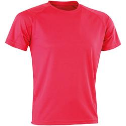 Textiel T-shirts korte mouwen Spiro Aircool Superroze