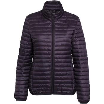 Textiel Dames Dons gevoerde jassen 2786 Fineline Aubergine