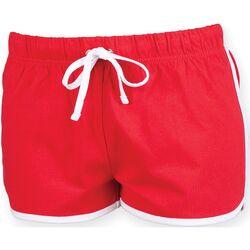 Textiel Dames Korte broeken / Bermuda's Skinni Fit Retro Rood/wit