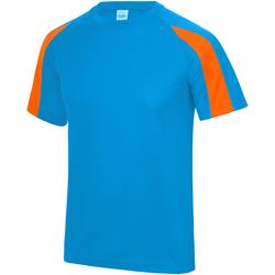 Textiel Kinderen T-shirts korte mouwen Just Cool Contrast Saffierblauw/Elektrische Oranje
