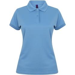 Textiel Dames Polo's korte mouwen Henbury Coolplus Middenblauw