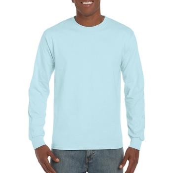 Textiel Heren T-shirts met lange mouwen Gildan Hammer Chambray
