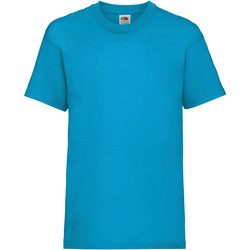 Textiel Kinderen T-shirts korte mouwen Fruit Of The Loom 61033 Azure Blue