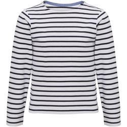 Textiel Kinderen T-shirts met lange mouwen Asquith & Fox Mariniere Wit/Zwaar