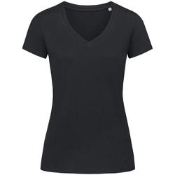 Textiel Dames T-shirts korte mouwen Stedman Stars Janet Zwart