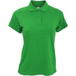 Textiel Dames Polo's korte mouwen B And C Safran Kelly Groen
